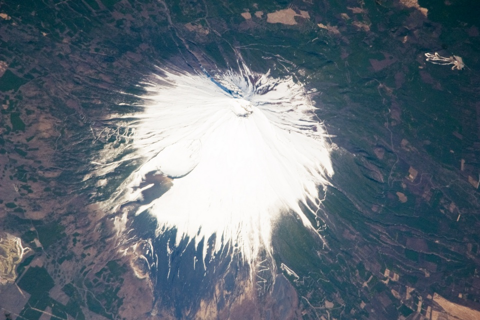 mt fuji from above