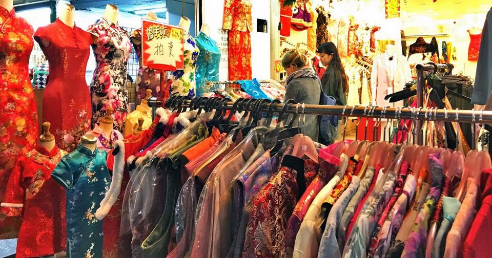Shopping at XinJueJiang night market