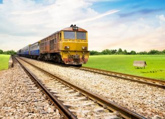 If you love watching the beautiful scenery through the window, take a train to Trang province and then Krabi island.