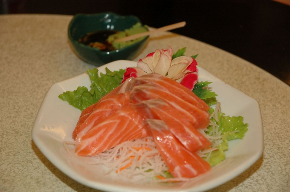 Salmon Sashimi (local Taiwanese salmon)