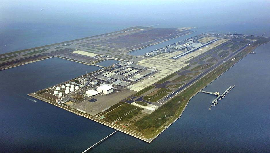 Kansai International Airport from above