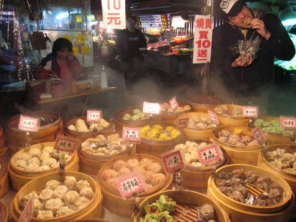 Dimsum dumplings in Gongguan Market, Taipei