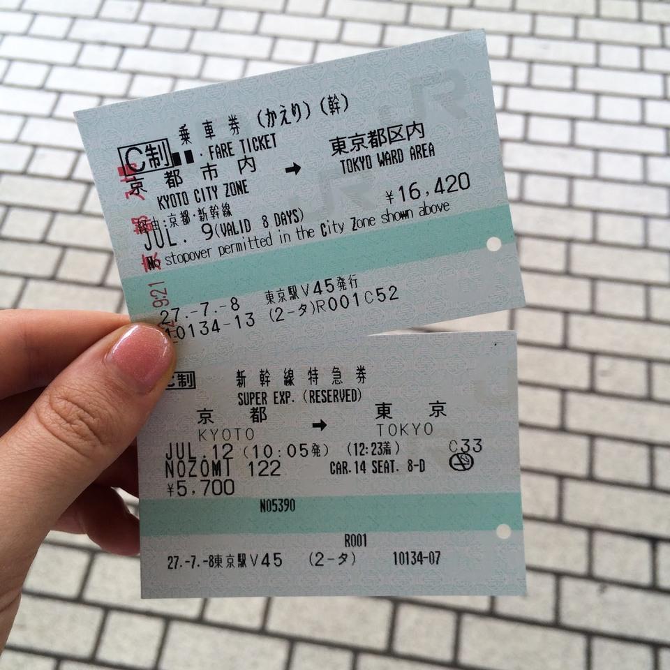 Tokyo to Kyoto shinkansen fare