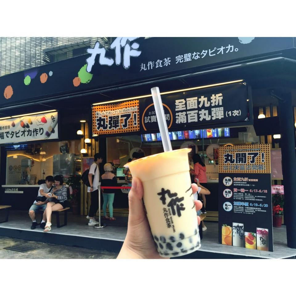 Bubble tea shop in Taiwan