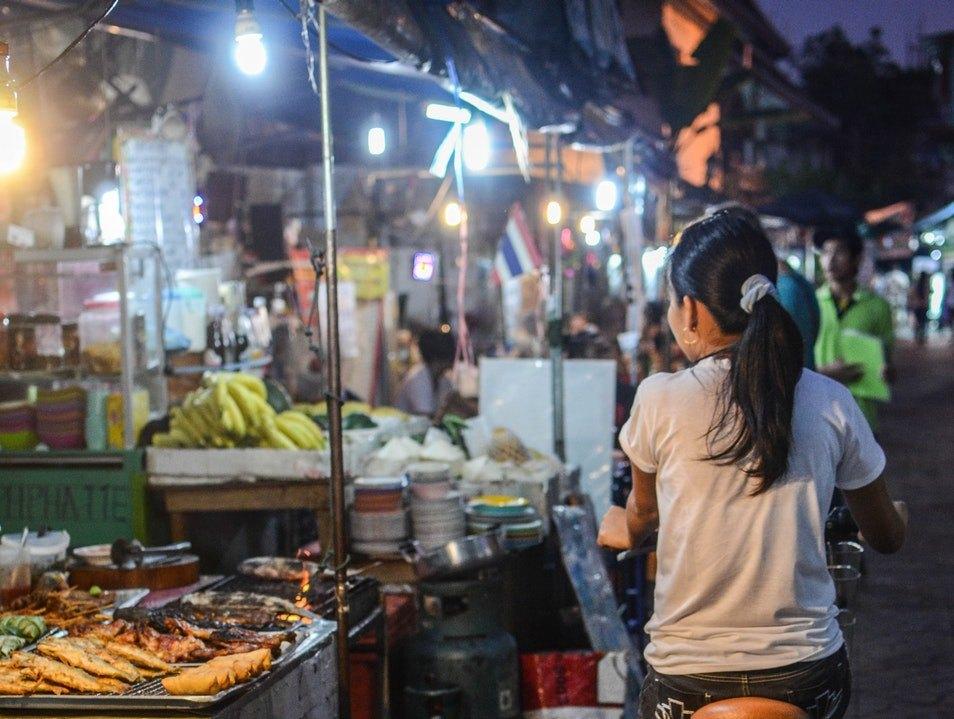 The Psar Reatrey Night Market Phnom Penh Cambodia