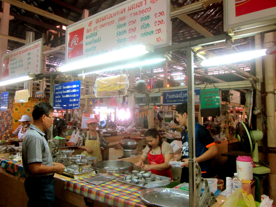 Nang Loeng market in Bangkok, Thailand