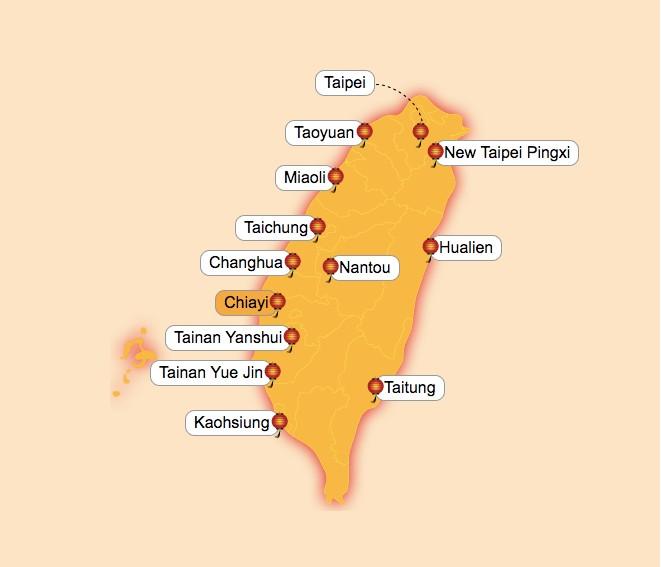 Map of Lantern Festival venues