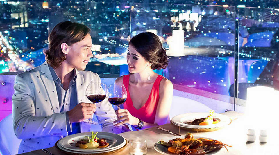 Dine above the clouds Baiyoke Sky Restaurant