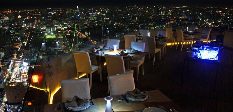 View from above at Baiyoke Sky Hotel Sky Restaurant
