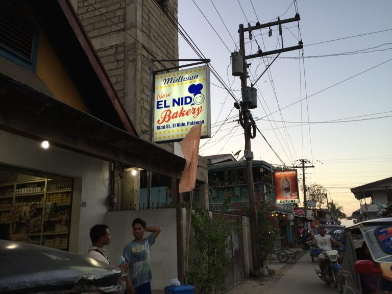 The only bakery at El Nido in the morning