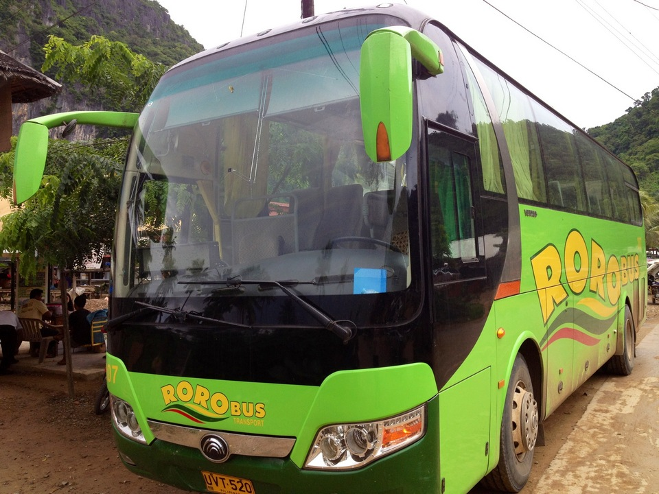 A Roro bus going to El Nido, Palawan