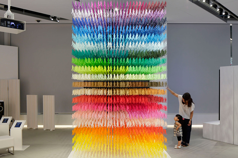 Paper art installation by Emmanuelle Moureaux at 'Space in Ginza' exhibition, Tokyo – Japan
