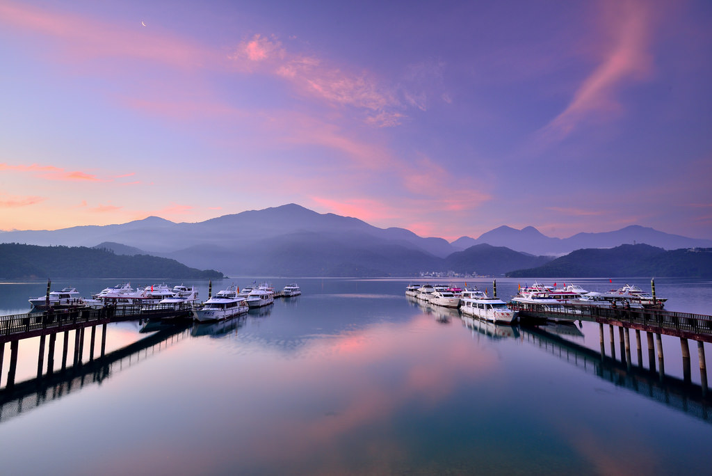 Morning Glow at Sun Moon Lake