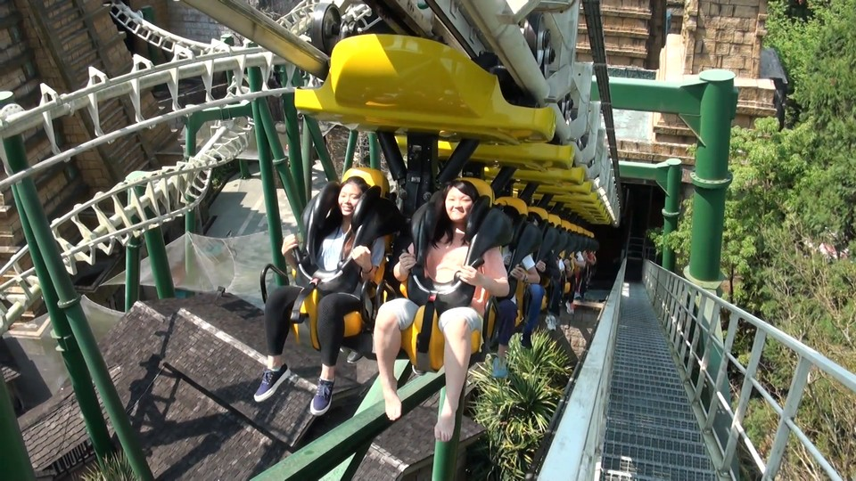 Nantou, Taiwan 19 March, 2015_Asian people in roaller coaster, Formosan