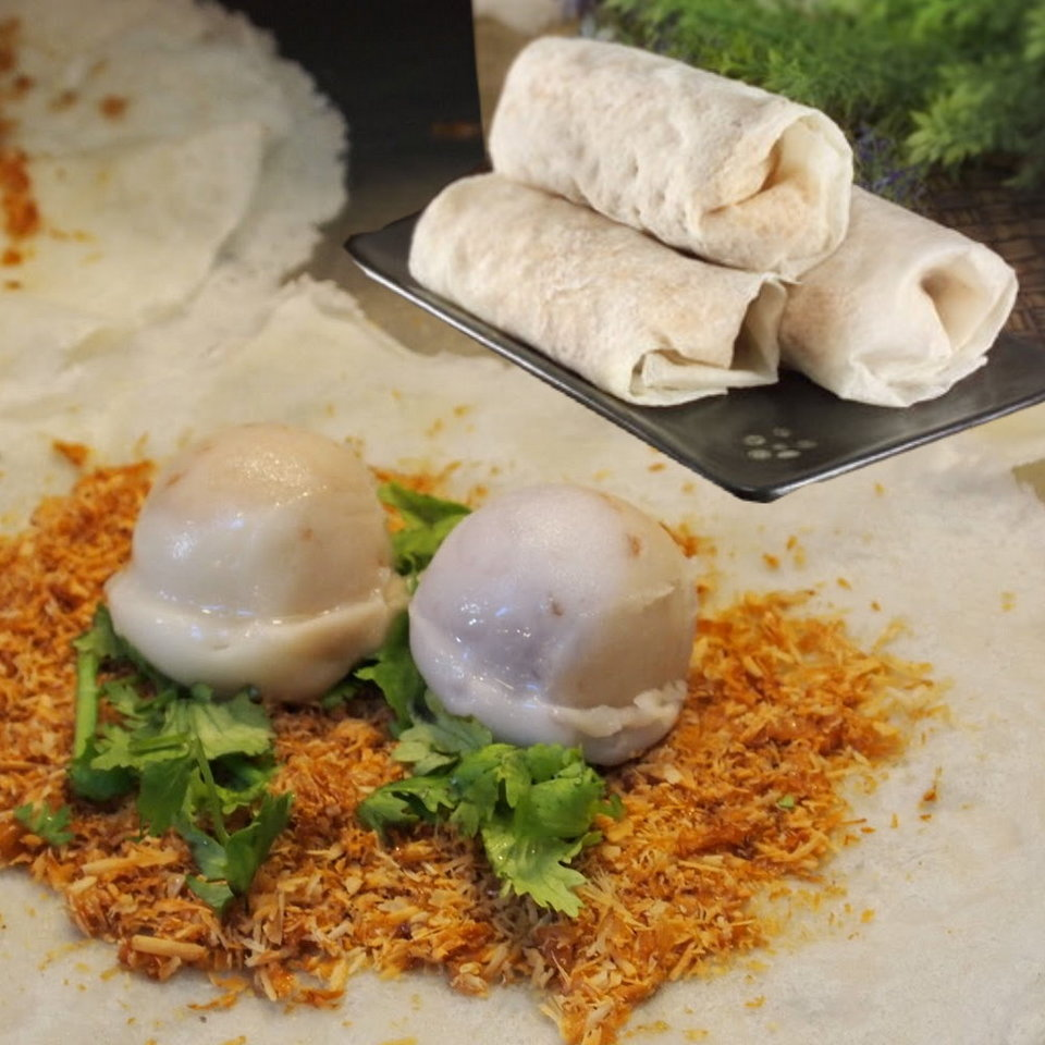 Taiwanese ice cream spring roll
