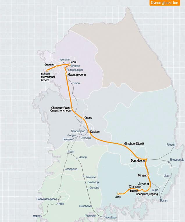 Gyeongjeon-Korail Pass-Korea train express-way to move in korea
