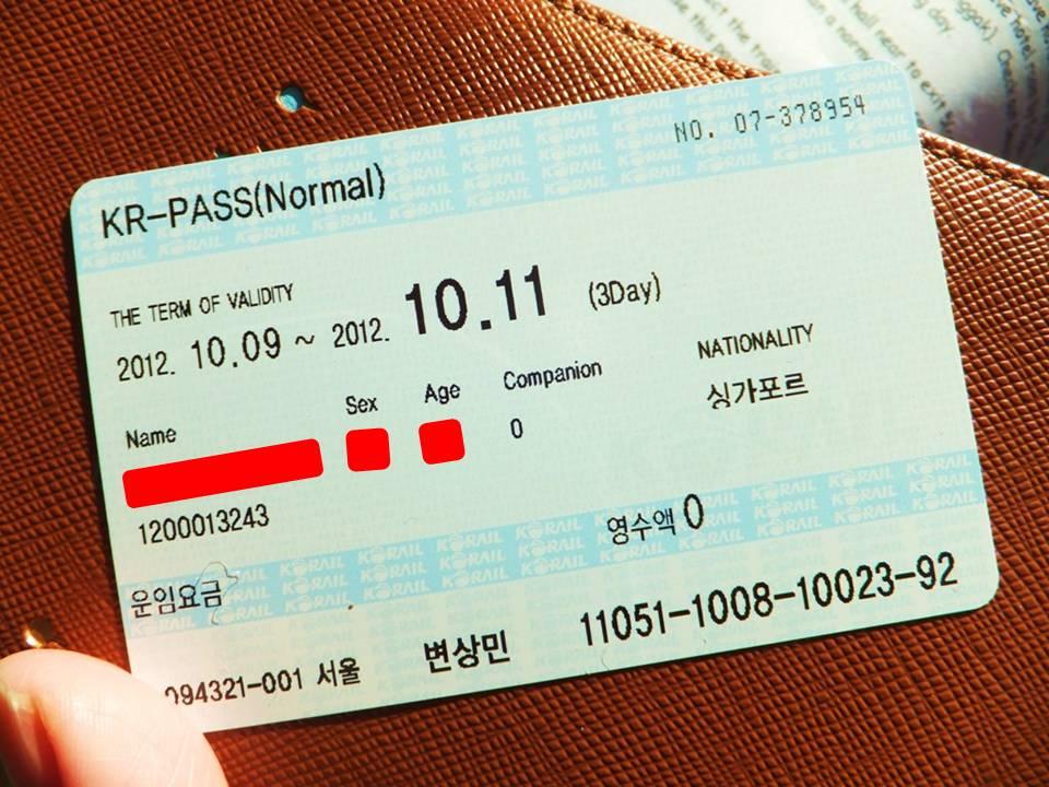 Korail Pass-Korea train express-way to move in korea