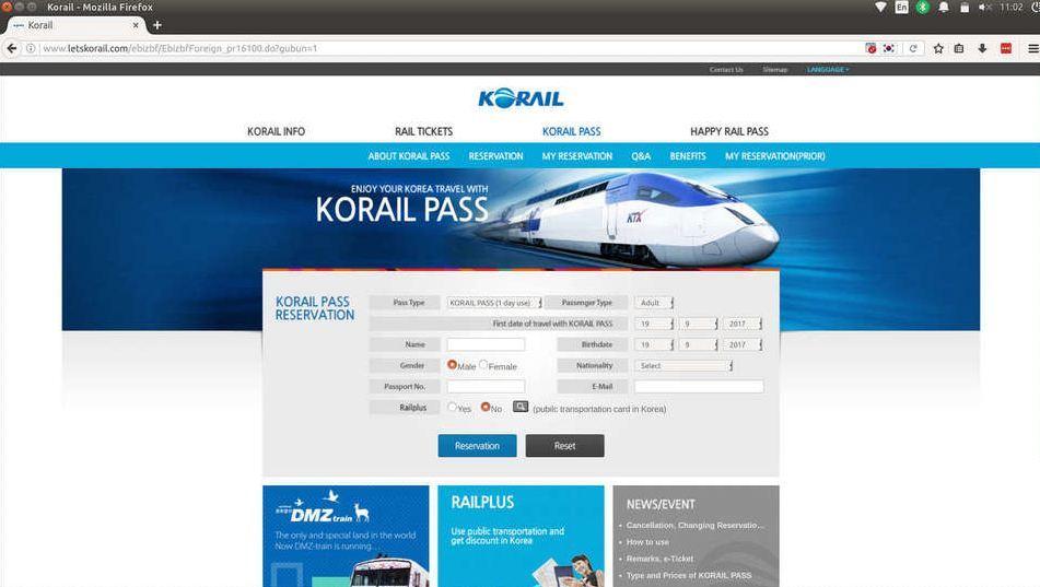 Korail Pass-Korea train express-way to move in korea14
