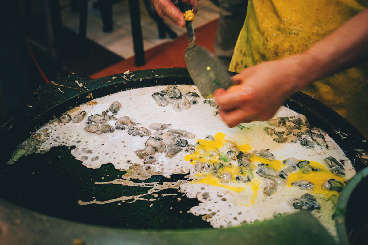 Fried Oyster Omelet