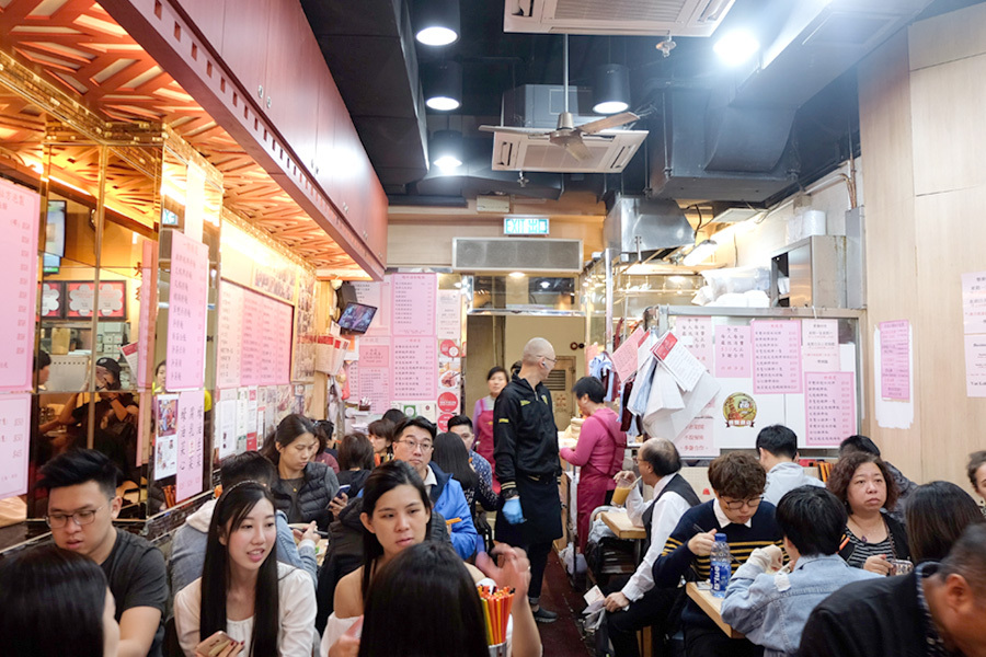 Inside Yat Lok roast goose restaurant