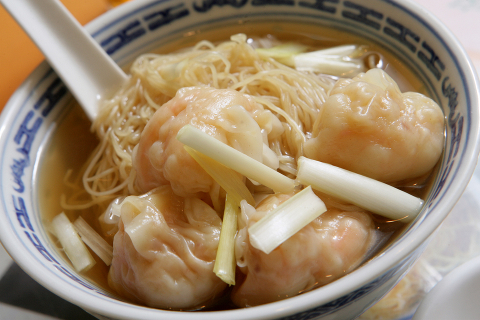 Wonton (Shrimp dumpling) with noodles