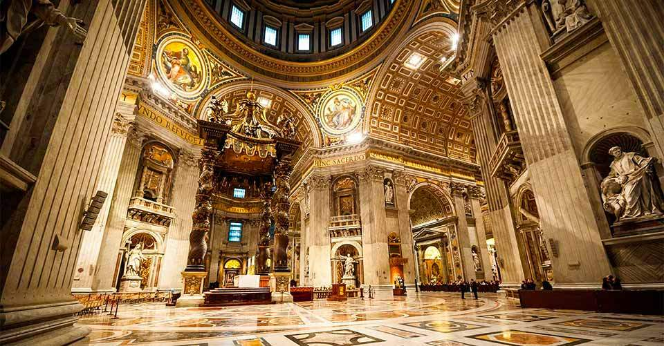 The Saint Peter's Basilica-rome-italy4 Image by: rome 1 day itinerary blog.
