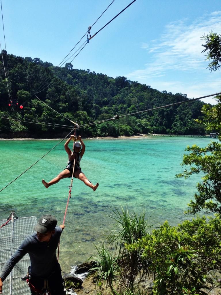 Coral Zipline, Sapi Island, Sabah top islands in malaysia best islands in malaysia malaysia beach holiday destinations