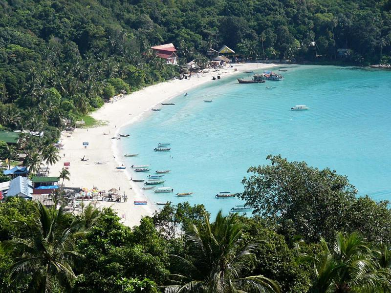 Perhentian Island, Kecil. Long beach, Malaysia