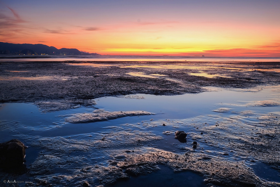 Time Lapse Sunset di Pantai Robina Teluk Air Tawar top islands in malaysia best islands in malaysia malaysia beach holiday destinations