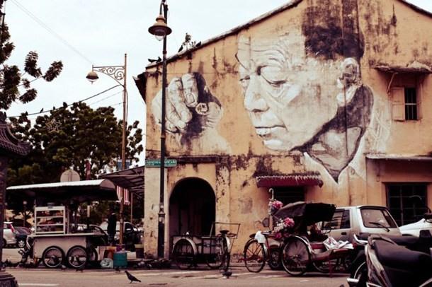 The wall painting of Penang