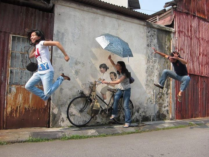 The wall painting of Penang