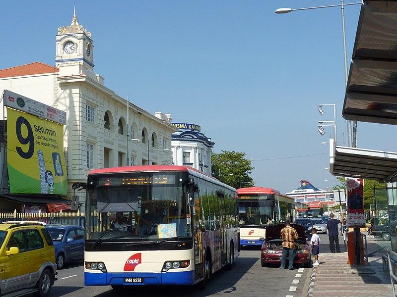 Penang Weld Quay free bus penang travel blog penang travel guide penang trip plan penang budget trip