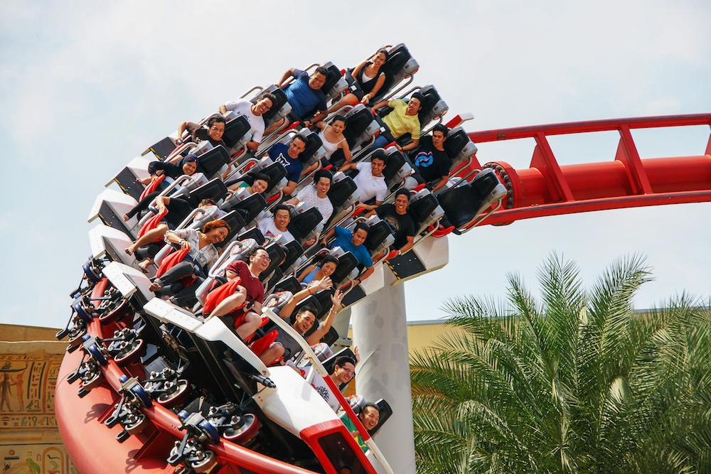 roller coaster at Universal Studios Singapore adventure activities in singapore outdoor adventure singapore extreme activities singapore
