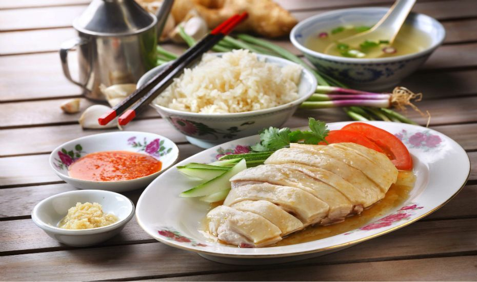 Hainanese Chicken Rice in Singapore