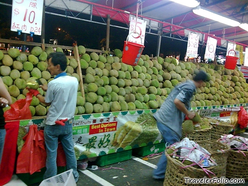 Singapore durian stall
