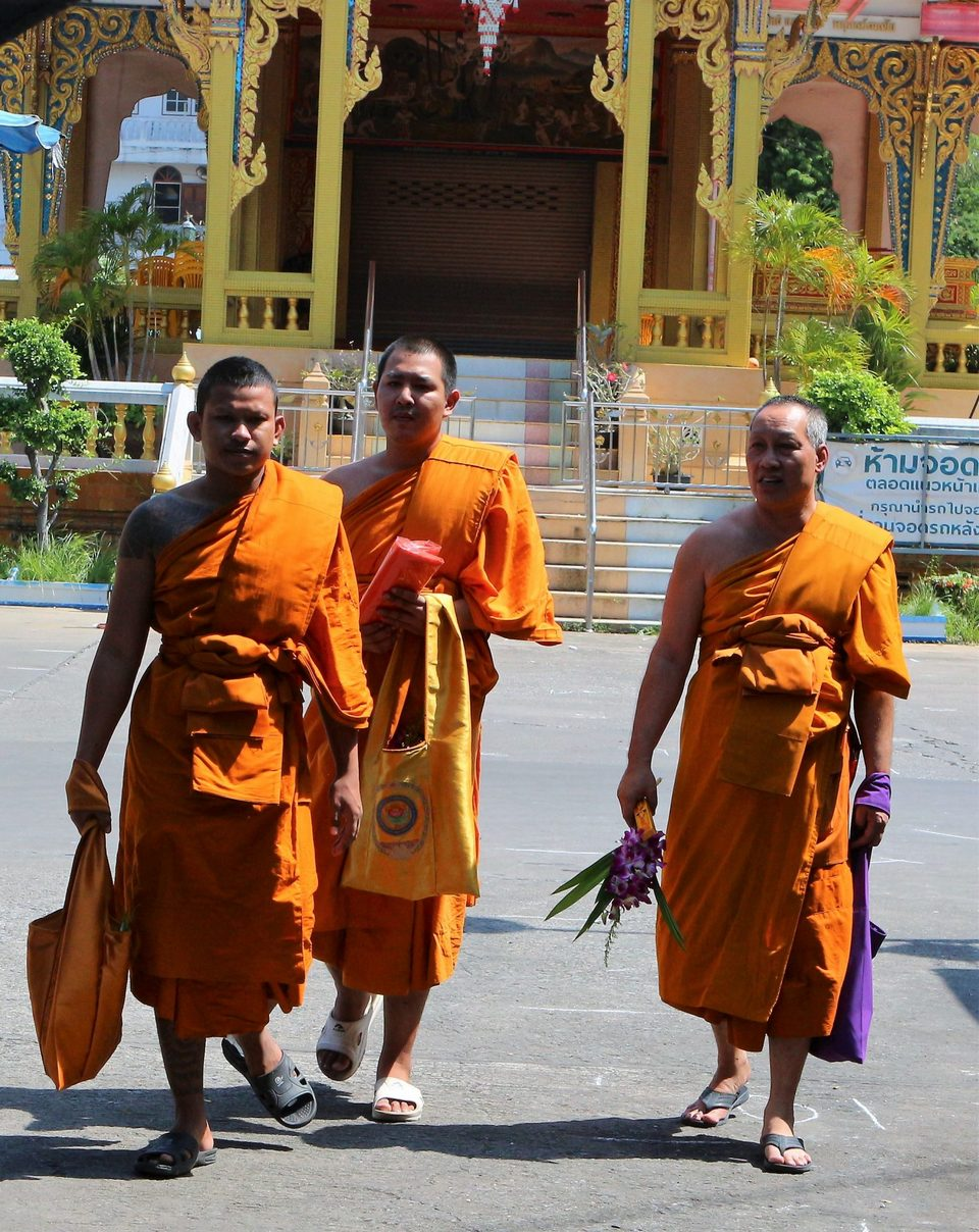 Monks at Wat Mahabut temple