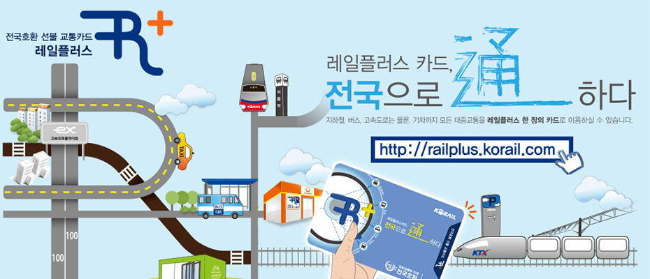 South Korea Railplus Transport Card-kore railplus card railplus korea railplus korail railplus card korea