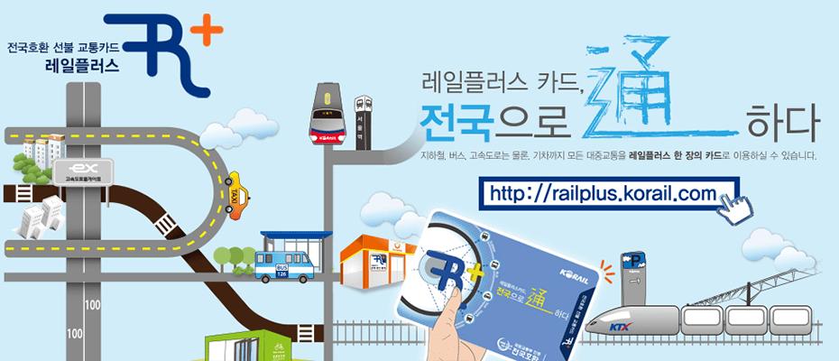 South Korea Railplus Transport Card-kore railplus card railplus korea railplus korail railplus card korea