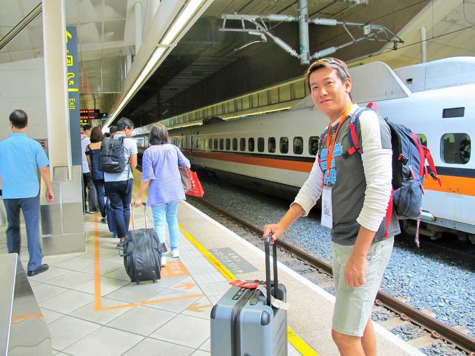 Arriving at Taiwan High Speed Rail's Zuoying Station in Kaohsiung City