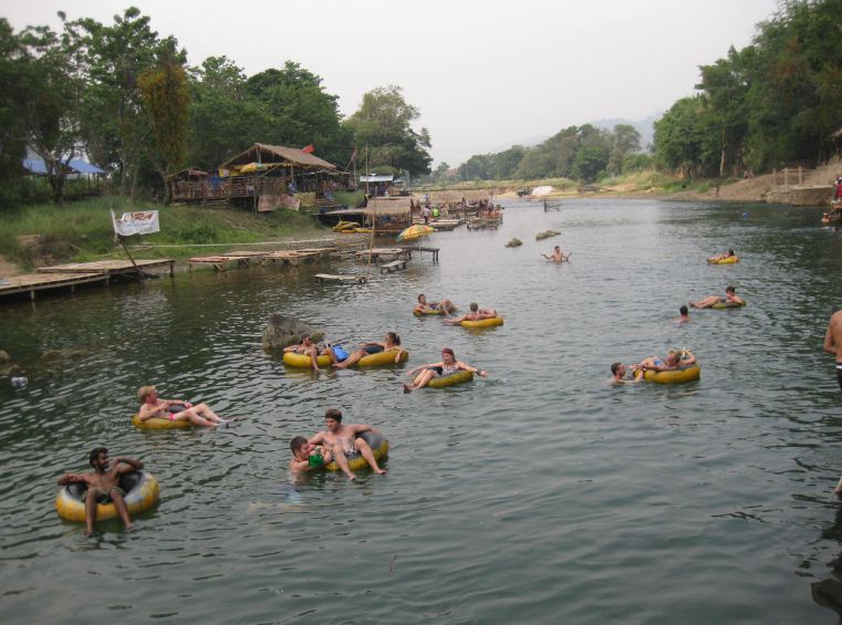 Tubing in Vang Vieng is an exciting thing to do you should try.