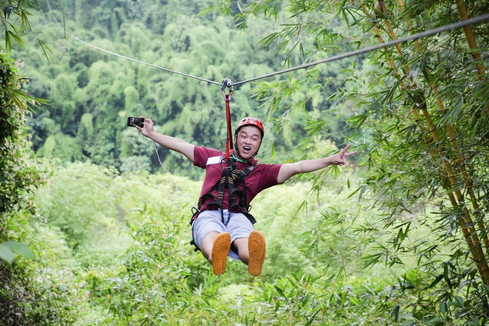 zip lineMadagui Forest – Lam Dong5