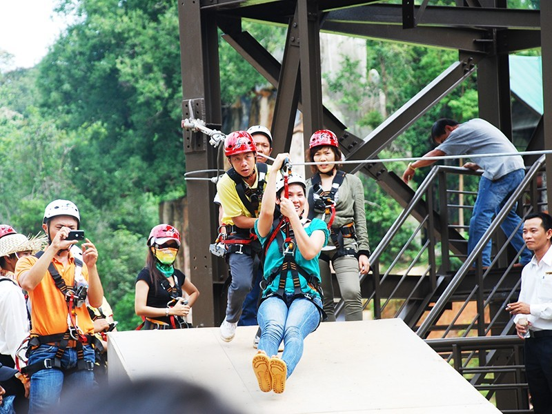 zip lineMadagui Forest – Lam Dong7