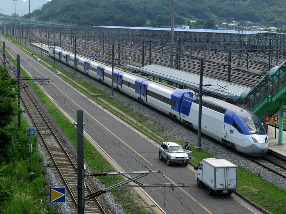 KTX (Korea Train Express) rail system
