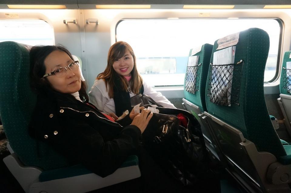 Inside KTX train
