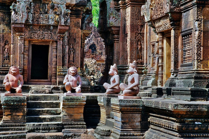 Banteay Srei Temple, Siem Reap with its spectacular architecture
