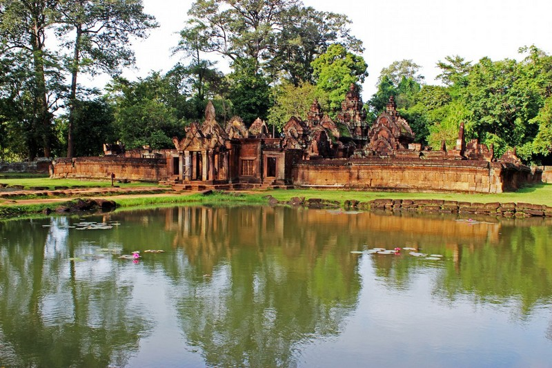 Banteay Srei Temple, lost in a place like an oasis