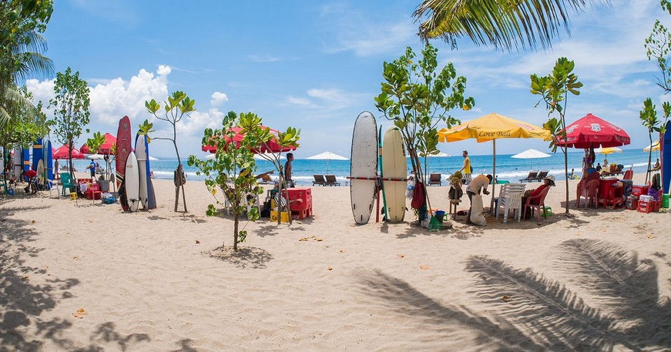 Kuta beach-places to stay when coming to bali for the first time1