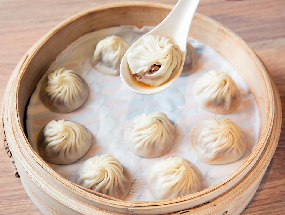 Din Tai Fung's famous 'Xiao Long Bao'.