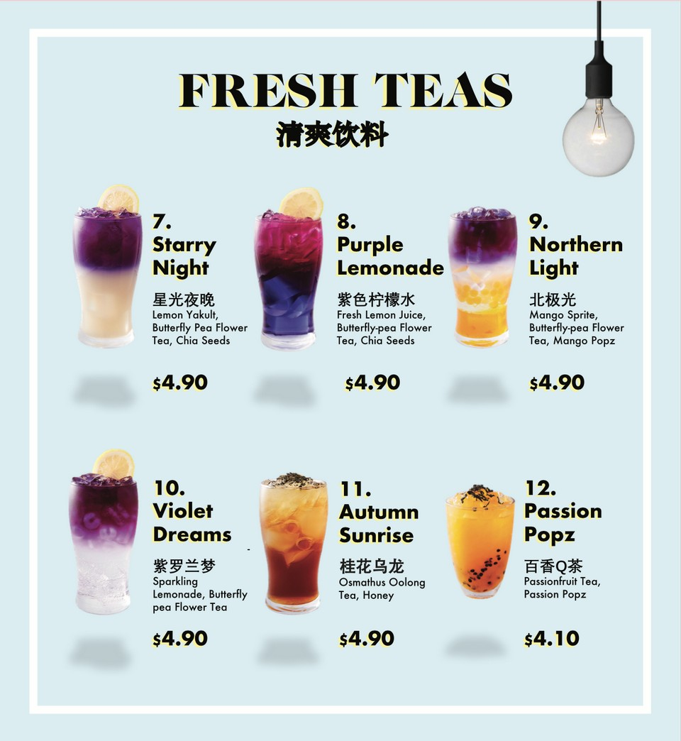 Drink Menu - I Love Taimei