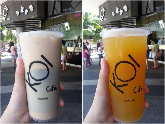Koi milk tea, Singapore